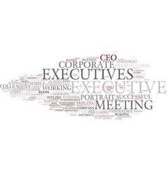 executives word cloud concept vector image vector image