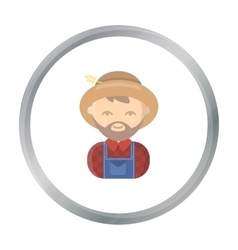 Farmer cartoon icon for web and vector image vector image