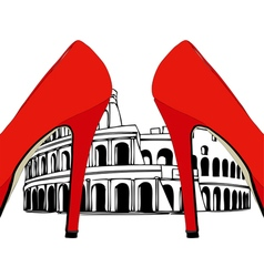 Fashion under the Colosseum Rome vector image vector image