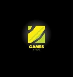 Game app logo vector image