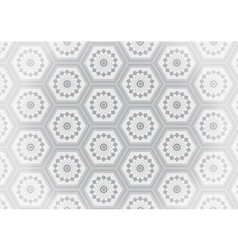 Geometric gray flower seamless pattern vector image vector image