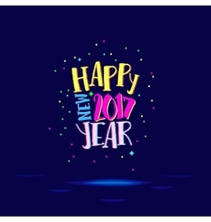 Happy new year with super bright colors vector