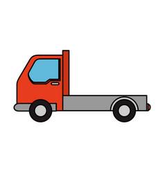 Isolated merchandise truck vector