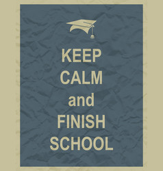 keep calm and finnish school typographic quote vector image vector image