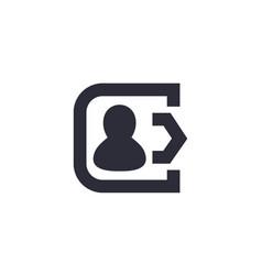 logout icon vector image vector image
