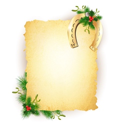 New Year Lucky Golden Horseshoe vector image