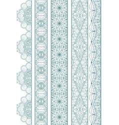 Ornamental seamless borders set for decor vector