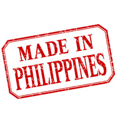 Philippines - made in red vintage isolated label vector