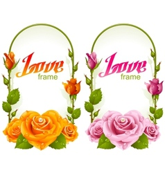 rose frames vector image