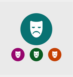 sad mask icon simple vector image