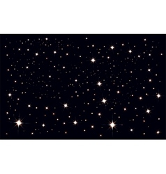 Starry sky stars in the night sky vector