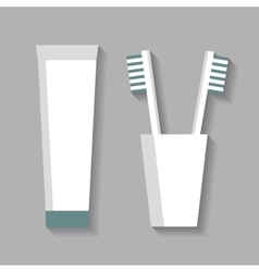 Toothpaste And Toothbrushes vector image