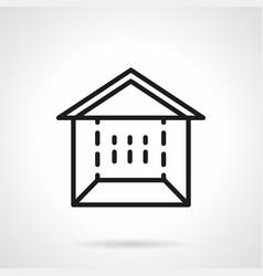 Trade marquee simple line icon vector