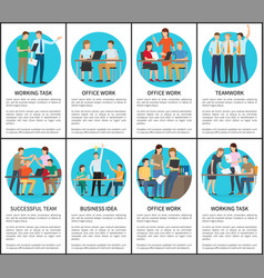 Working task and office work vector