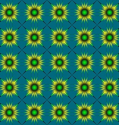 Yellow-green abstract flowers vector image vector image