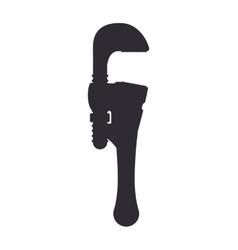 Wrench silhouette icon tool design vector