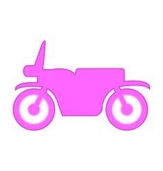Motorcycle symbol icon on white vector