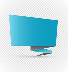 Color polygonal origami banner on transparent vector image