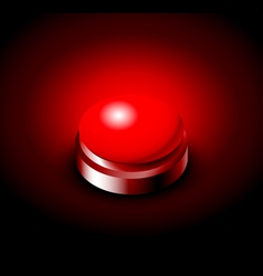 Pressed button with red light vector