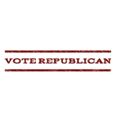 Vote republican watermark stamp vector