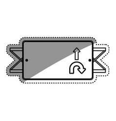 Road sign directions vector