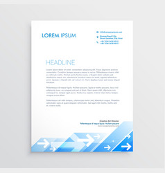Creative letterhead design with abstract blue vector
