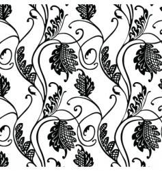 floral leaf pattern vector image
