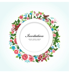 Card flower vector