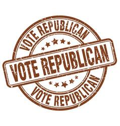 Vote republican stamp vector