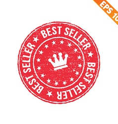 Grunge best seller guarantee rubber stamp - vector