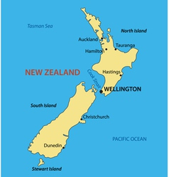 New zealand - map vector