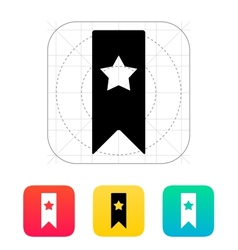 Bbookmark with star icon vector