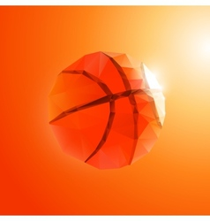 Polygon basketball vector