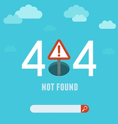 404 error page template vector