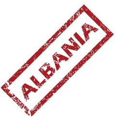 New albania rubber stamp vector