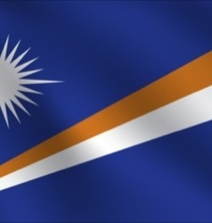 Marshall islands flag vector