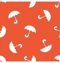 Orange umbrella pattern vector