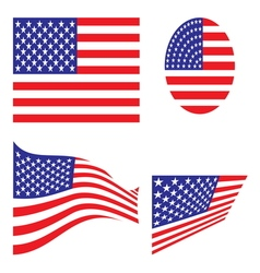 Usa flag set resize vector
