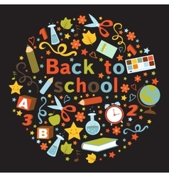 Back to school colorful composition vector