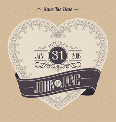 Elegant invitation card template vector image