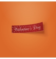 Valentines day realistic tag template vector