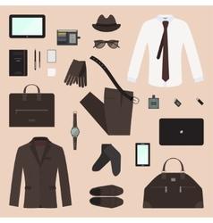 Business Man Concept Set vector image