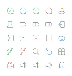 User interface colored line icons 46 vector
