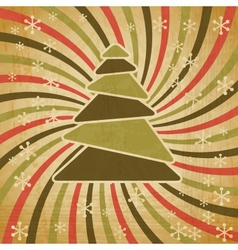 Retro Christmas Tree Background vector image