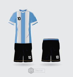 argentina team uniform vector image