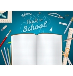 Back to School background EPS 10 vector image vector image