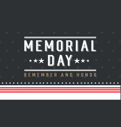 Background for memorial day collection style vector