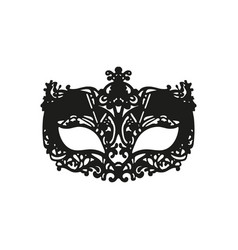 black carnival mask mardi gras vector image