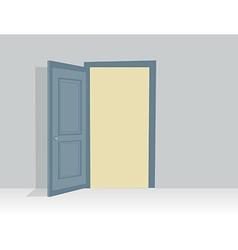 Blue opened door in with shadow vector image