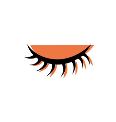 Color close vision eye with eyelashes style vector